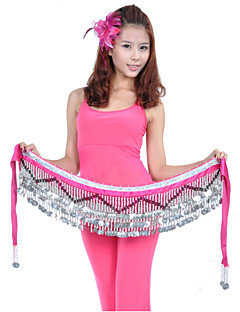 Belly Dance Hip Scarves Women's Training Polyester Beading / Coins 1 Piece Hip Scarf