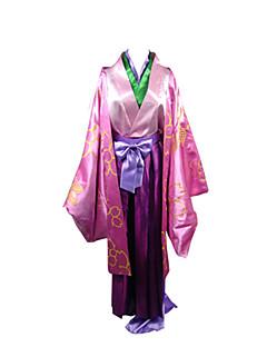 קיבל השראה מ נכדו של Nurarihyon Zen אנימה תחפושות קוספליי חליפות קוספליי / קימונו טלאים ורוד שרוולים ארוכיםמעיל / מעיל קימונו / מכנסיים /