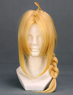 Cosplay Wigs Fullmetal Alchemist Edward Elric Yellow Medium Anime Cosplay Wigs 45 CM Heat Resistant Fiber Male