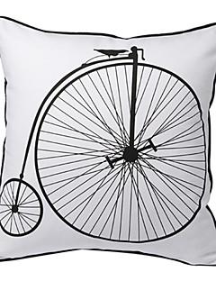 Vintage impression bicyclettes oreiller couvercle décoratif