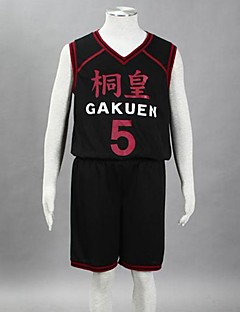 Cosplay Costume Inspired by The Basketball Which Kuroko Plays Aomine Daiki Tōō High School Basketball Team Uniform Black NO.5