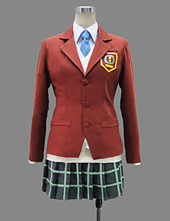 Inspired by My Little Monster Shizuku Mizutani Anime Cosplay Costumes Cosplay Suits / School Uniforms Patchwork Red Long SleeveCoat /