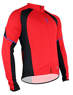 Maillot Cyclisme Vélo/Veste de cyclisme de polyester des hommes Santic + mesh respirant à manches longues + séchage rapide c01012r