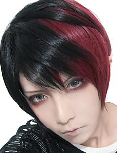로리타의 가발은 지퍼 짧은 검은 색과 붉은 색 혼합 32cm 펑크에서 영감을