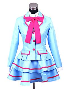 Inspirovaný PrettyCure Cosplay Anime Cosplay kostýmy Cosplay šaty / Školní uniformy Patchwork Niebieski Dlouhé rukávyKabát / Halenka /
