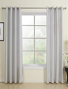 (to paneler) klassiske grå solid energibesparende gardin