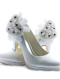 Feminino Wedding Shoes Saltos Saltos Casamento Preto/Azul/Rosa/Roxo/Marfim/Branco/Prateado/Dourado/Champagne