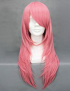 Cosplay Wigs Reborn! Bianchi Pink Medium Anime Cosplay Wigs 65 CM Heat Resistant Fiber Female