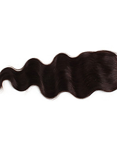 100% Indian Remy 16 Inch Body Wave hår fullt blonder stenging Extensions