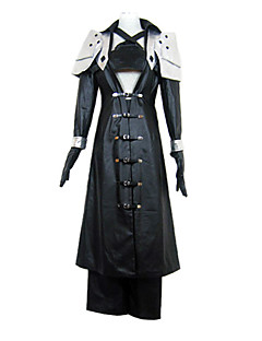 Inspired by Final Fantasy Sephiroth Video Game Cosplay Costumes Cosplay Suits Patchwork Black Long SleeveCoat / Breastplate / Pants /