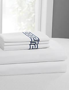 """einfach&opulence® Blattsatz, 400 tc 100% Baumwolle solide Stickerei bis 15 """"tief"""