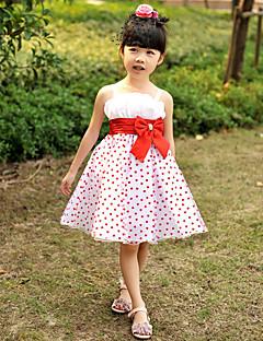 Flower Girl Dress - Trapezio/Palloncino/Stile Principessa Cocktail Senza Maniche Raso/Tulle