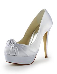 Wedding Shoes - Saltos - Saltos / Plataforma - Preto / Azul / Rosa / Roxo / Vermelho / Marfim / Branco / Prateado / Dourado / Champagne -