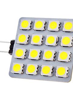 G4 2W 150-180lm 16x5050SMD 6000-6500K Natural White Light Ampoule LED Spot (12V)