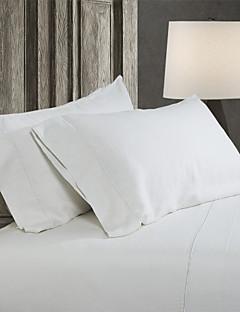 einfach&opulence® 2er-Pack Kissensatz, 100% Leinen solid weiß