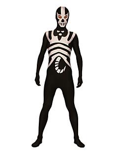 Black and White Scorpion Lycra Open Eyes Zentai