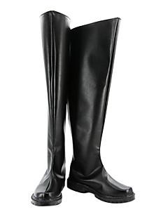 מגפי קוספליי קוספליי Kururugi Suzaku אנימה נעלי קוספליי שחור PU עור זכר