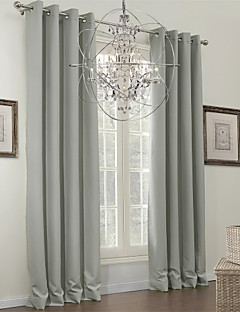 (One Panel) Classic Grey Solid Blackout Curtain