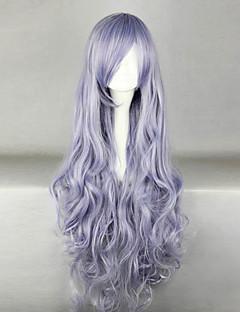 Cosplay Wigs Natsume Yuujinchou Cosplay Purple Long Anime Cosplay Wigs 100 CM Male / Female