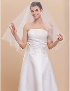 잘라 가장자리 1 층 놀라운 팔꿈치 결혼식 신부 베일
