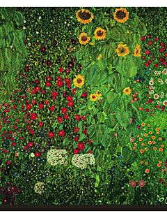 Farm Garden with Sunflowers Gustav Klimt Famous Canvastaulu