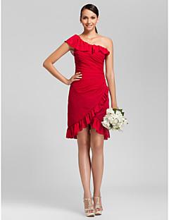 PASTORA - kjole til brudepige i chiffon