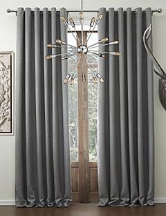 zwei Platten feste klassische faux Bettwäsche Raumverdunklungsvorhang