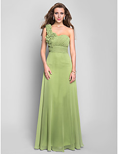 Prom / Formal Evening / Military Ball Dress - Plus Size / Petite A-line One Shoulder Floor-length Chiffon