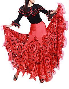 Dança de Salão Saias Mulheres Treino Viscose Natural