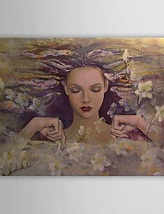 Pintado a mano la pintura al óleo nude con el marco de estirado 1306-LS0268