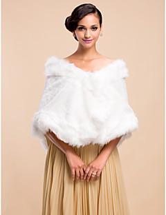 Nice-Faux Fur Aften / Wedding Shawl (Flere farver)