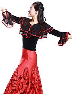 Dança de Salão Blusas Mulheres Treino Viscose