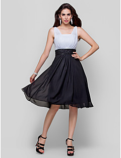 Homecoming Cocktail Party Dress Plus Sizes A-line/Princess Straps Knee-length Chiffon