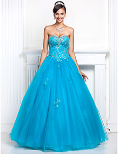 TS Couture Prom / Formal Evening / Quinceanera / Sweet 16 Dress - Pool Plus Sizes / Petite A-line / Princess Sweetheart / Strapless Floor-length