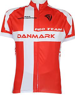 kooplus 2015 Meisterschaft Radtrikot Dänemark 100% Polyester Wicking T-shirt mit Reflexstreifen