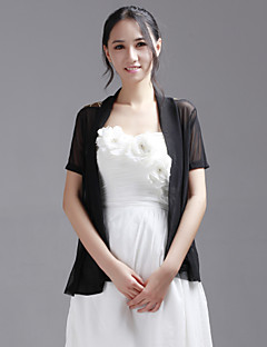 Party/Evening / Casual Lace / Tulle Coats/Jackets Short Sleeve Wedding  Wraps