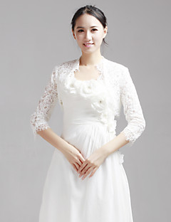 Delicate Half-Sleeve Lace Wedding/Evening Evening Jacket/Wrap (More Colors) Bolero Shrug