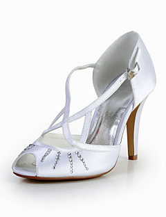 Women's Wedding Shoes Peep Toe Sandals Wedding Ivory/White