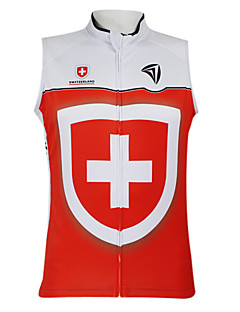 Kooplus2013 Championship Jersey Schweiz 100% Polyester fugtspredende Fibre ærmeløs Cycling Vest med refleksbånd