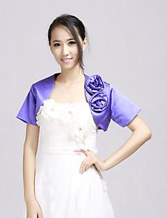 꽃 신부의 웨딩 랩 / 저녁 재킷 (더 많은 색상) 볼레로 어깨를 으쓱와 짧은 소매 새틴