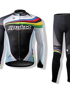 פוליאסטר SPAKCT הדק במיוחד ופוליאמיד רכיבה על אופניים ארוכים שרוולי חליפות (חולצות + מכנסיים)