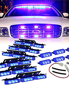Blue 54xLED Volunteer Vehicle Grill Deck Strobe Warning Lights