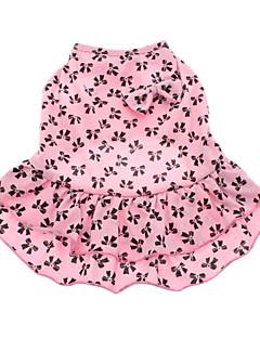 Собаки Платья Розовый Одежда для собак Лето Бант