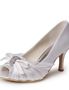 Bon goût Satin Peep Toe chaussures de pompes avec de la dentelle et de chaussures de mariage bowknot