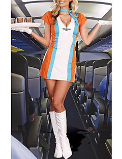 Genial Airline Mädchen-Orange Stewardess Uniform