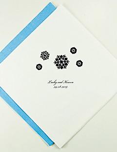 Personnalisé épousant Serviettes flocons de neige (plus de couleurs)-ensemble de 100