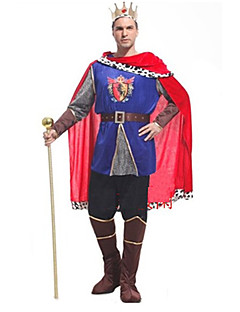 Charming Prince Red and Blue Dress Men's Halloween Costumefor Carnival