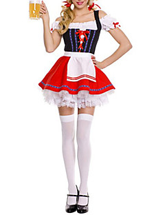 Beer Festival Cute Girl Red Maid Uniform (One Size)