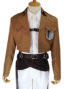 Inspired by Attack on Titan Armin Arlert Anime Cosplay Costumes Cosplay Suits Solid Brown Long SleeveCoat / Shirt / Pants / Cravat /
