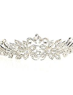 Vrouwen Bergkristal / Licht Metaal Helm-Bruiloft / Speciale gelegenheden Tiara's Zilver